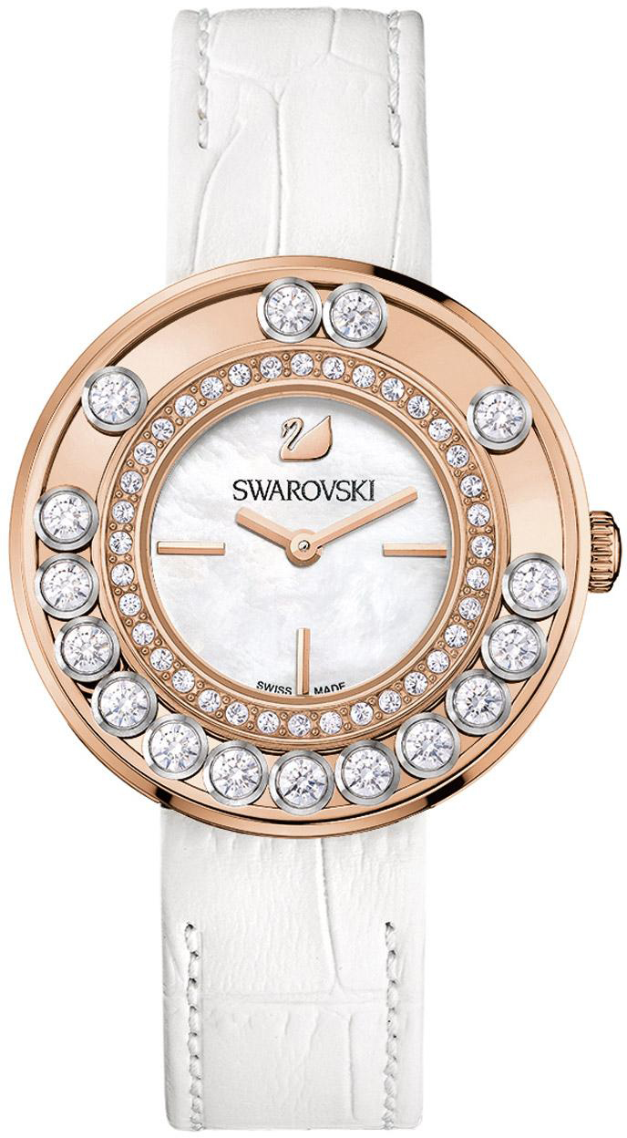Купить Швейцарские часы Swarovski Lovely Crystals White Rose Gold Tone 1187023, Swarovski Lovely Crystals 1187023