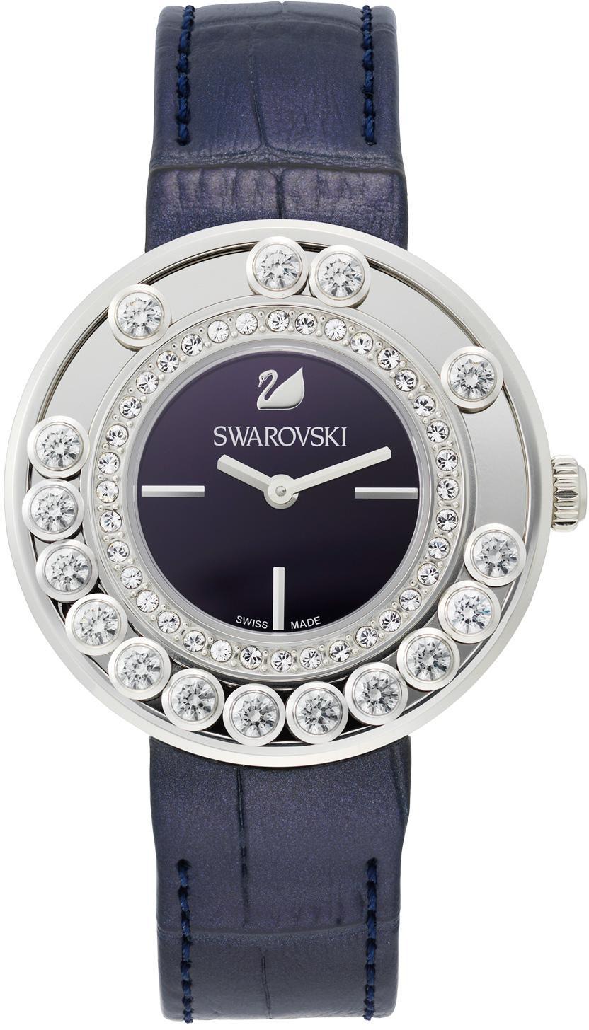 Swarovski Lovely Crystals Aubergine 5027205Наручные часы<br>Швейцарские часы Swarovski Lovely Crystals Aubergine 5027205<br><br>Для кого?: Женские<br>Страна-производитель: Швейцария<br>Механизм: Кварцевый<br>Материал корпуса: Сталь<br>Материал ремня/браслета: Кожа<br>Водозащита, диапазон: 20 - 100 м<br>Стекло: Сапфировое<br>Толщина корпуса: 9мм<br>Стиль: Мода