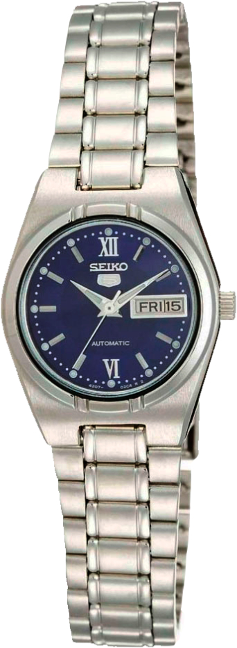 Seiko Seiko5 SYM605K1SНаручные часы<br>Японские часы Seiko Seiko5 SYM605K1S<br><br>Для кого?: Женские<br>Страна-производитель: Япония<br>Механизм: Механический<br>Материал корпуса: Сталь<br>Материал ремня/браслета: Сталь<br>Водозащита, диапазон: 20 - 100 м<br>Стекло: Минеральное<br>Толщина корпуса: 10 мм<br>Стиль: Классика