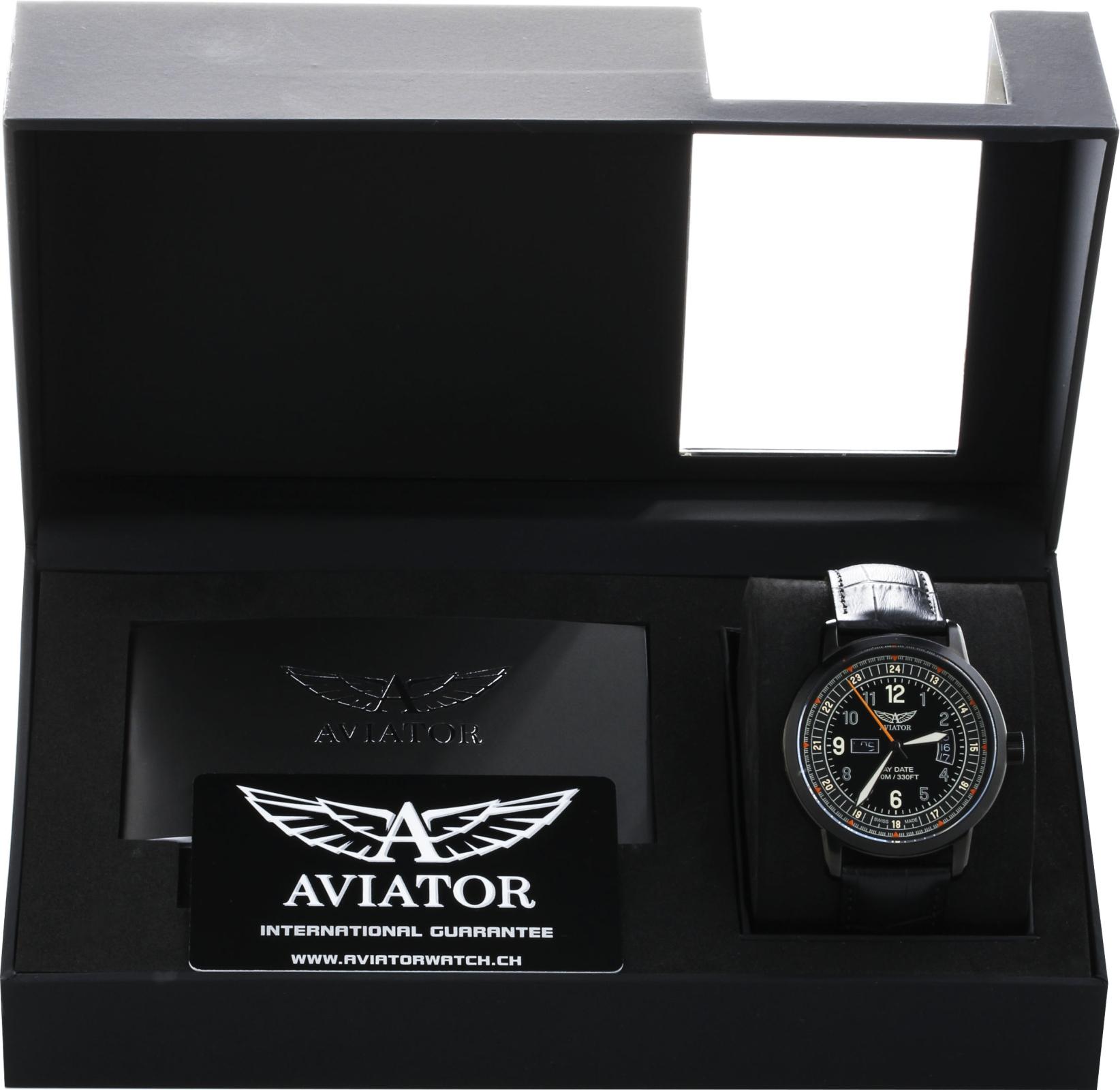 Aviator Kingcobra V.1.17.5.106.4Наручные часы<br>Швейцарские часы Aviator Kingcobra V.1.17.5.106.4<br><br>Пол: Мужские<br>Страна-производитель: Швейцария<br>Механизм: Кварцевый<br>Материал корпуса: Сталь<br>Материал ремня/браслета: Кожа<br>Водозащита, диапазон: 100 - 150 м<br>Стекло: Сапфировое<br>Толщина корпуса: 12 мм<br>Стиль: Классика