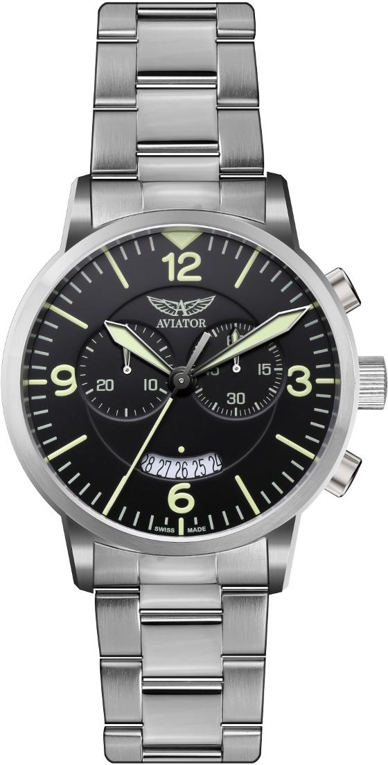 Aviator Aircobra Chrono V.2.13.0.074.5Наручные часы<br>Швейцарские часы Aviator Aircobra Chrono V.2.13.0.074.5Модель входит в коллекцию Aircobra Chrono. Это великолепные Мужские часы. Материал корпуса часов — Сталь. Браслет — Сталь. Стекло - Сапфировое. Часы выдерживают давление на глубине 100 м.<br><br>Пол: Мужские<br>Страна-производитель: Швейцария<br>Механизм: Кварцевый<br>Материал корпуса: Сталь<br>Материал ремня/браслета: Сталь<br>Водозащита, диапазон: 100 - 150 м<br>Стекло: Сапфировое<br>Толщина корпуса: None<br>Стиль: None