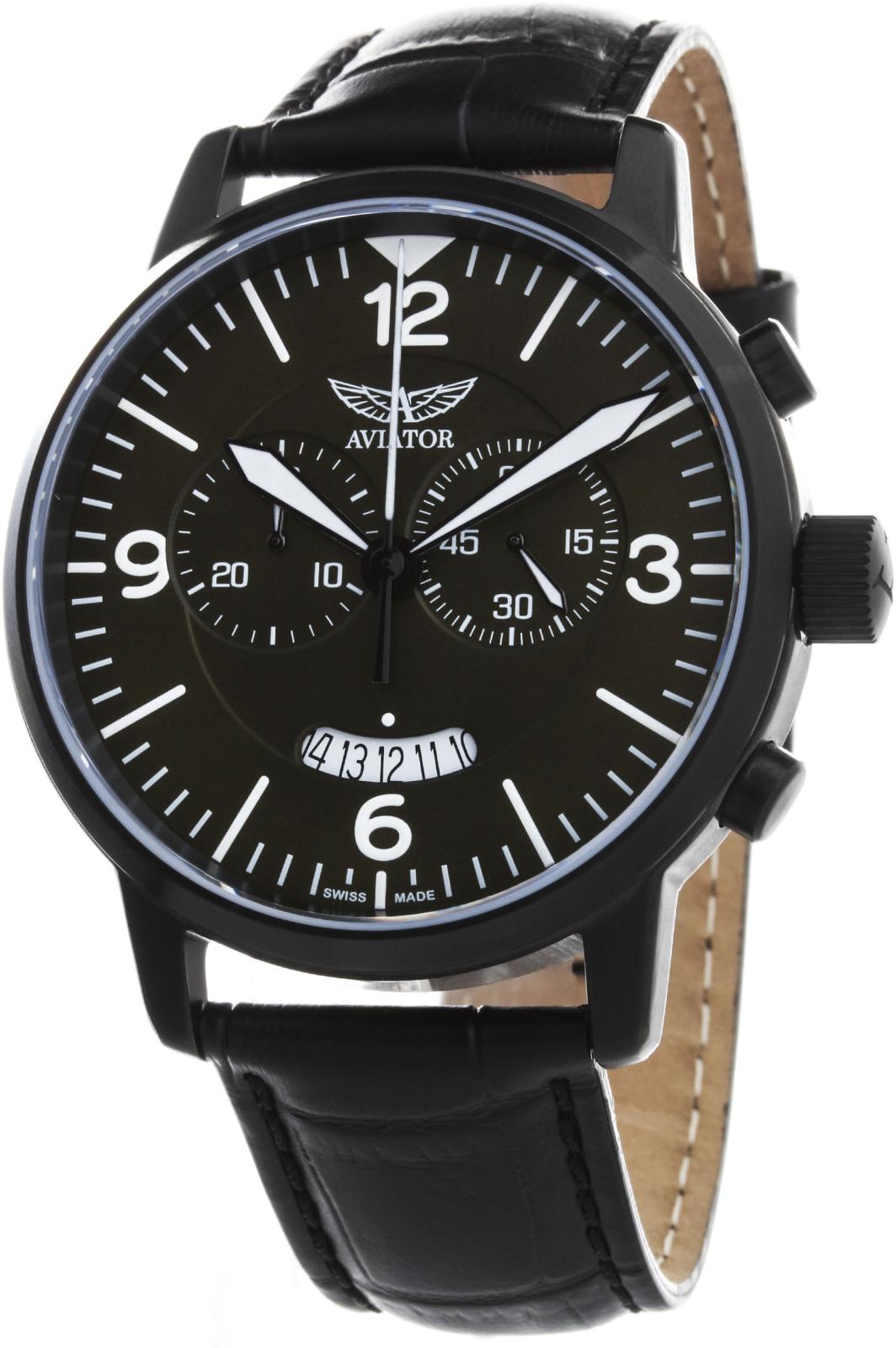 Aviator Airacobra V.2.13.5.076.4Наручные часы<br>Швейцарские часы Aviator Airacobra V.2.13.5.076.4Данная модель — яркий представитель коллекции Airacobra. Это великолепные Мужские часы. Материал корпуса часов — Сталь. Ремень — Кожа. В этой модели стоит Сапфировое стекло. Часы этой модели обладают водозащитой 100 м. Диаметр корпуса часов составляет 45мм.<br><br>Пол: Мужские<br>Страна-производитель: Швейцария<br>Механизм: Кварцевый<br>Материал корпуса: Сталь<br>Материал ремня/браслета: Кожа<br>Водозащита, диапазон: 100 - 150 м<br>Стекло: Сапфировое<br>Толщина корпуса: None<br>Стиль: None