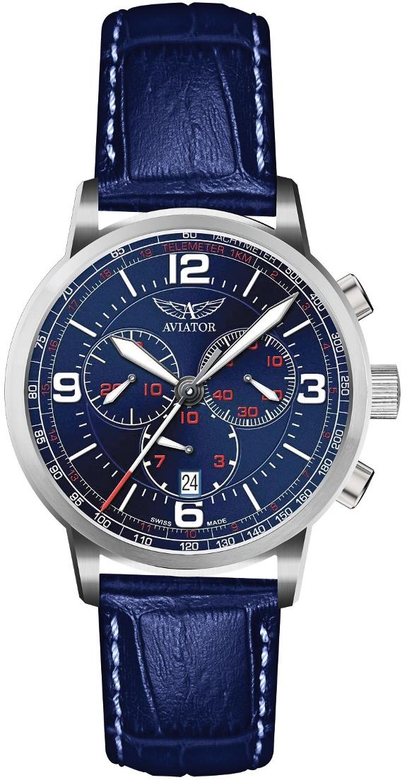 Aviator Airacobra V.2.16.0.095.4Наручные часы<br>Швейцарские часы Aviator Airacobra V.2.16.0.095.4Данная модель входит в коллекцию Airacobra. Это стильные Мужские часы. Материал корпуса часов — Сталь. Ремень — Кожа. Стекло - Сапфировое. Водозащита - 100 м. Цвет циферблата - Синий. Циферблат содержит часы, минуты, секунды. В этой модели используются такие усложнения как дата, хронограф. Корпус часов в диаметре 45мм.<br><br>Пол: Мужские<br>Страна-производитель: None<br>Механизм: Кварцевый<br>Материал корпуса: Сталь<br>Материал ремня/браслета: Кожа<br>Водозащита, диапазон: None<br>Стекло: Сапфировое<br>Толщина корпуса: 12<br>Стиль: Спорт