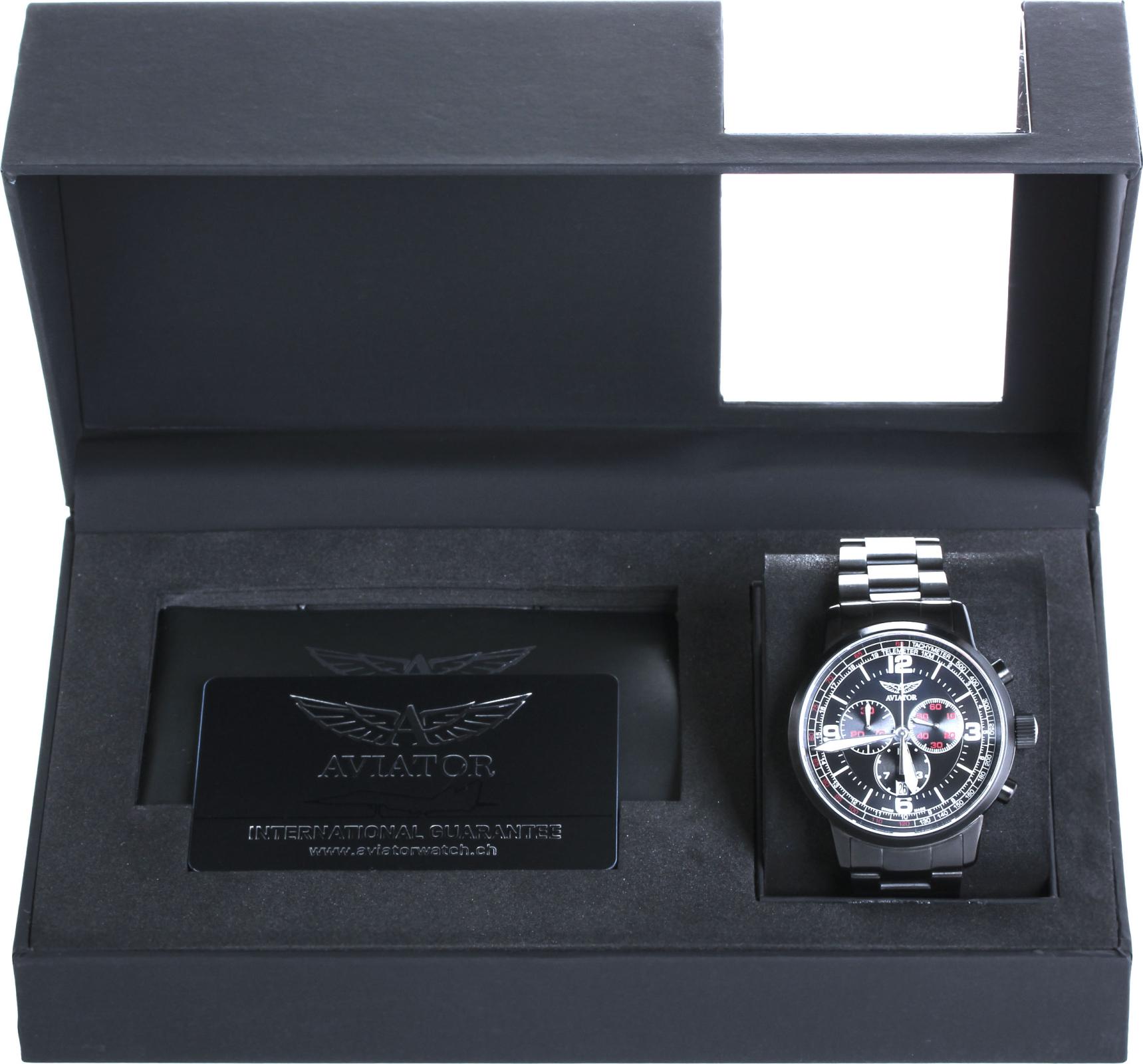 Aviator KINGCOBRA CHRONO V.2.16.5.094.5Наручные часы<br>Швейцарские часы Aviator KINGCOBRA CHRONO V.2.16.5.094.5<br><br>Пол: Мужские<br>Страна-производитель: Швейцария<br>Механизм: Кварцевый<br>Материал корпуса: Сталь<br>Материал ремня/браслета: Сталь<br>Водозащита, диапазон: 100 - 150 м<br>Стекло: Сапфировое<br>Толщина корпуса: 12 мм<br>Стиль: Классика