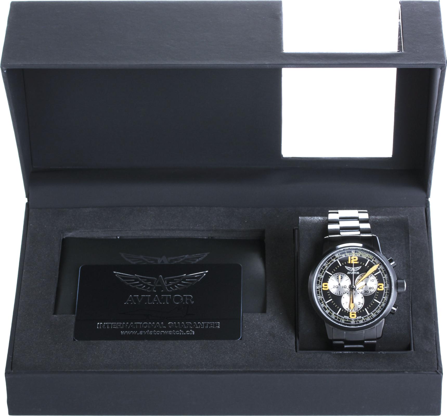 Aviator Kingcobra Chrono V.2.16.5.098.5Наручные часы<br>Швейцарские часы Aviator Kingcobra Chrono V.2.16.5.098.5<br><br>Пол: Мужские<br>Страна-производитель: Швейцария<br>Механизм: Кварцевый<br>Материал корпуса: Сталь<br>Материал ремня/браслета: Сталь<br>Водозащита, диапазон: 100 - 150 м<br>Стекло: Сапфировое<br>Толщина корпуса: 12 мм<br>Стиль: Классика
