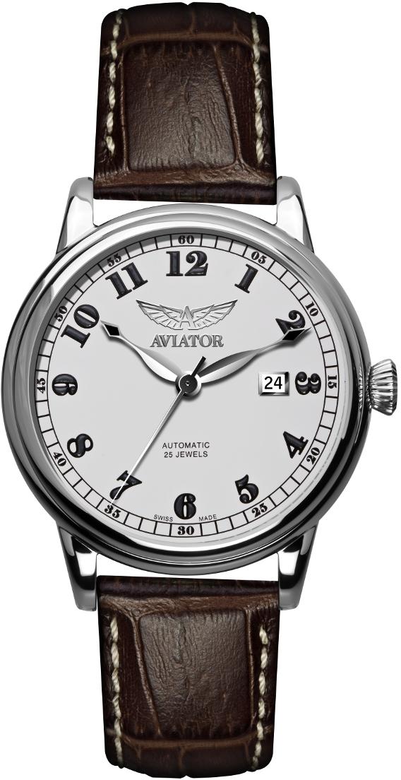 Aviator Douglas V.3.09.0.024.4Наручные часы<br>Швейцарские часы Aviator Douglas V.3.09.0.024.4Представленная модель входит в коллекцию Douglas. Это настоящие мужские часы. Материал корпуса часов &amp;mdash; Сталь. Ремень &amp;mdash; Кожа. Циферблат часов защищает Сапфировое стекло. Часы этой модели обладают водозащитой 50 м.<br><br>Пол: мужские<br>Страна-производитель: Швейцария<br>Механизм: Механический<br>Материал корпуса: Сталь<br>Материал ремня/браслета: Кожа<br>Водозащита, диапазон: 20 - 100 м<br>Стекло: Сапфировое<br>Толщина корпуса: None<br>Стиль: None