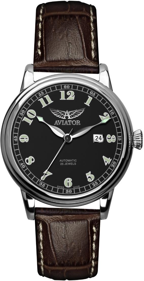 Aviator Vintage Douglas V.3.09.0.025.4Наручные часы<br>Швейцарские часы Aviator Vintage Douglas V.3.09.0.025.4<br><br>Пол: Мужские<br>Страна-производитель: Швейцария<br>Механизм: Механический<br>Материал корпуса: Сталь<br>Материал ремня/браслета: Кожа<br>Водозащита, диапазон: 20 - 100 м<br>Стекло: Сапфировое<br>Толщина корпуса: 12 мм<br>Стиль: Классика