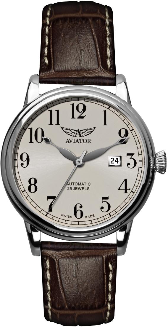 Aviator Douglas V.3.09.0.057.4Наручные часы<br>Швейцарские часы Aviator Douglas V.3.09.0.057.4Часы принадежат коллекции Douglas. Это стильные Мужские часы. Материал корпуса часов &amp;mdash; Сталь. Ремень &amp;mdash; Кожа. Стекло - Сапфировое. Водозащита этих часов 50 м.<br><br>Пол: Мужские<br>Страна-производитель: Швейцария<br>Механизм: Механический<br>Материал корпуса: Сталь<br>Материал ремня/браслета: Кожа<br>Водозащита, диапазон: 20 - 100 м<br>Стекло: Сапфировое<br>Толщина корпуса: None<br>Стиль: None