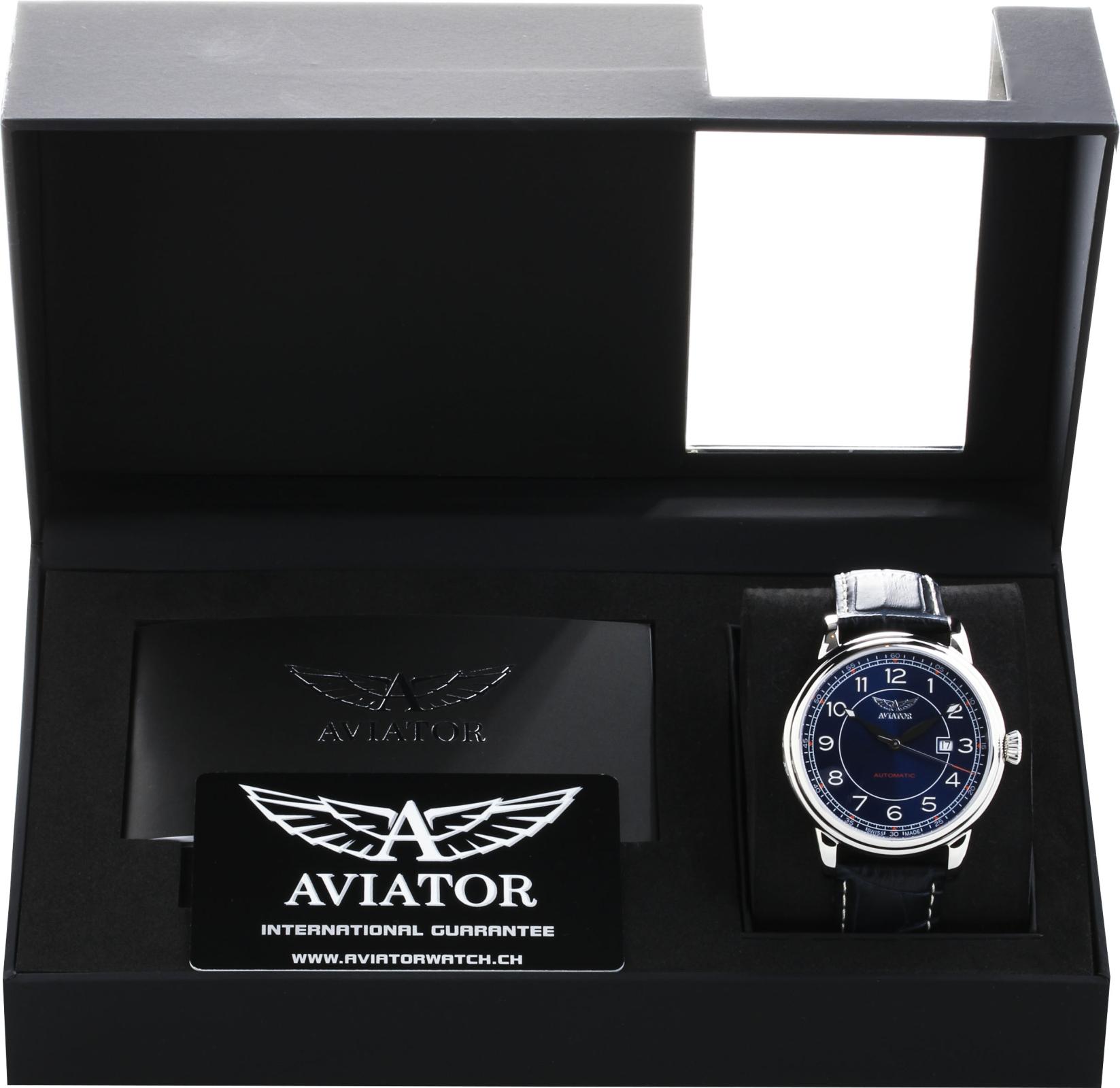 Aviator Douglas V.3.09.0.109.4Наручные часы<br>Швейцарские часы Aviator Douglas V.3.09.0.109.4<br><br>Пол: Мужские<br>Страна-производитель: Швейцария<br>Механизм: Механический<br>Материал корпуса: Сталь<br>Материал ремня/браслета: Кожа<br>Водозащита, диапазон: 20 - 100 м<br>Стекло: Сапфировое<br>Толщина корпуса: 12 мм<br>Стиль: Классика