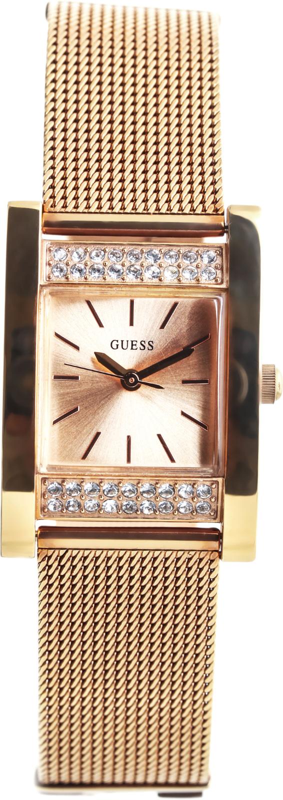 Guess W0127L3Наручные часы<br>Американские&amp;nbsp;часы Guess W0127L3Это стильные женские часы. Материал корпуса часов &amp;mdash; сталь. В этой модели стоит минеральное стекло. Водозащита этой модели 30 м. Основной цвет циферблата золотистый. Из основных функций на циферблате представлены: часы, минуты, секунды. Корпус часов в диаметре 35мм.<br><br>Пол: Женские<br>Страна-производитель: США<br>Механизм: Кварцевый<br>Материал корпуса: Сталь<br>Материал ремня/браслета: Сталь<br>Водозащита, диапазон: None<br>Стекло: Минеральное<br>Толщина корпуса: 12<br>Стиль: Классика