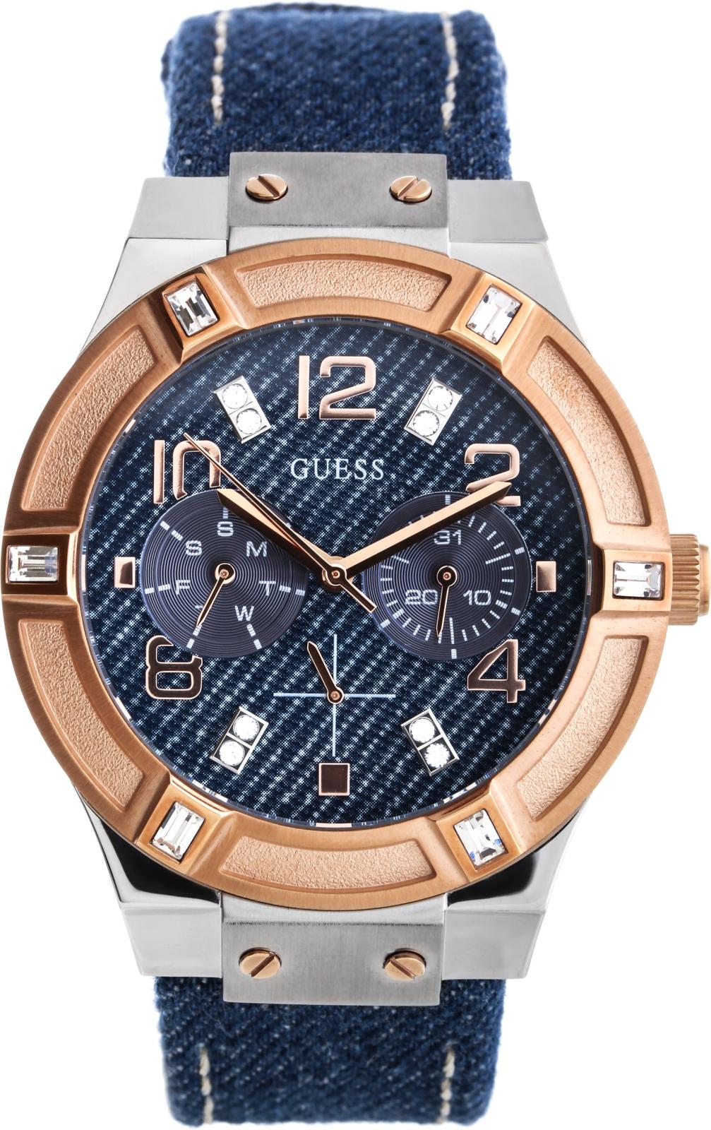 Guess Jet Setter W0289L1Наручные часы<br>Американские часы Guess Jet Setter W0289L1<br><br>Пол: Женские<br>Страна-производитель: США<br>Механизм: Кварцевый<br>Материал корпуса: Сталь<br>Материал ремня/браслета: Кожа+текстиль<br>Водозащита, диапазон: 20 - 100 м<br>Стекло: Минеральное<br>Толщина корпуса: 11 мм<br>Стиль: Мода