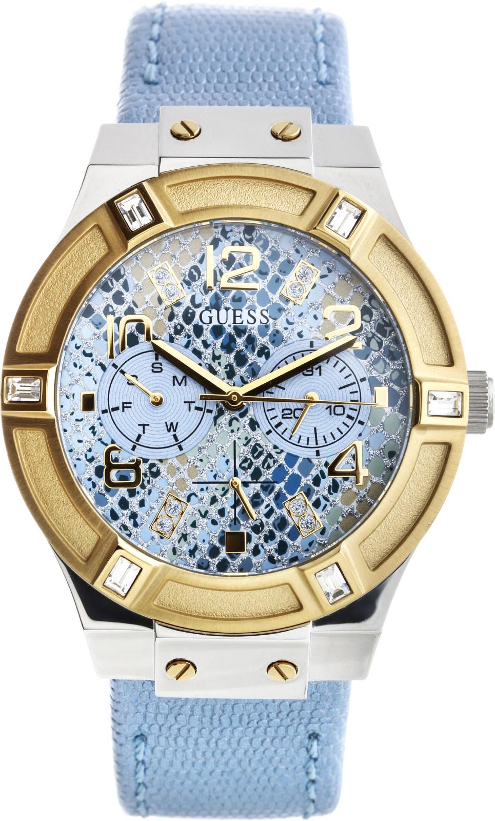 Guess Jet Setter W0289L2Наручные часы<br>Американские часы Guess Jet Setter W0289L2<br><br>Пол: Женские<br>Страна-производитель: США<br>Механизм: Кварцевый<br>Материал корпуса: Сталь<br>Материал ремня/браслета: Кожа<br>Водозащита, диапазон: 20 - 100 м<br>Стекло: Минеральное<br>Толщина корпуса: 11 мм<br>Стиль: Мода