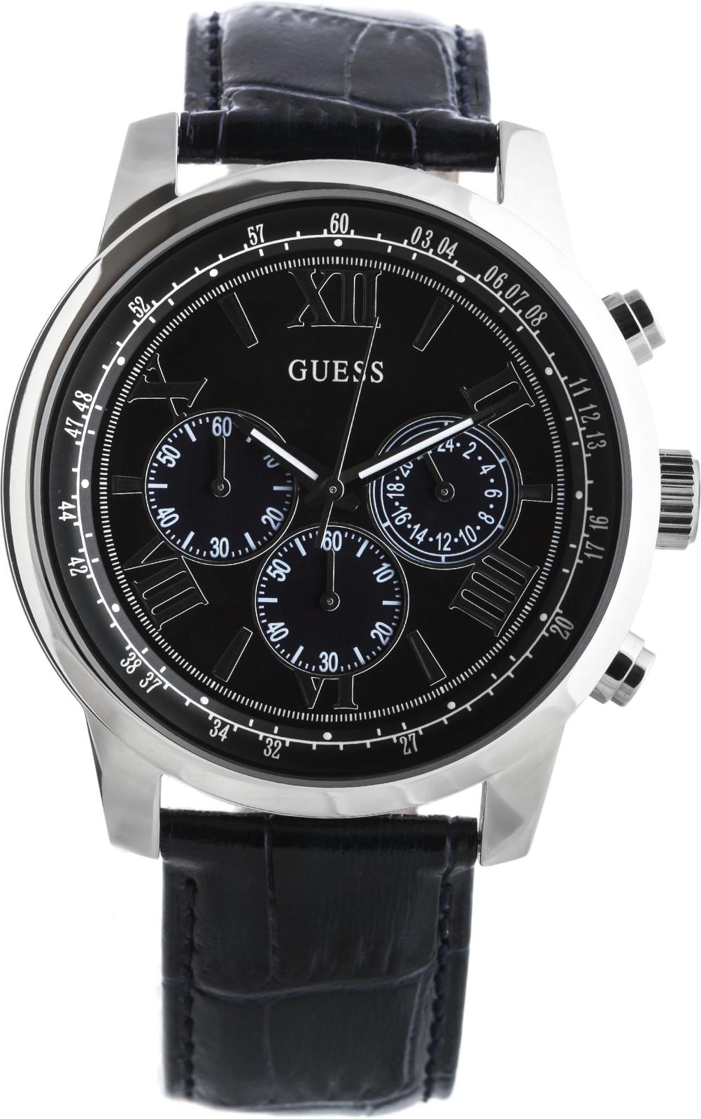 Guess Sport Steel  W0380G3Наручные часы<br>Американские часы Guess Sport Steel W0380G3<br><br>Пол: Мужские<br>Страна-производитель: США<br>Механизм: Кварцевый<br>Материал корпуса: Сталь<br>Материал ремня/браслета: Кожа<br>Водозащита, диапазон: 20 - 100 м<br>Стекло: Минеральное<br>Толщина корпуса: 11.5 мм<br>Стиль: Классика