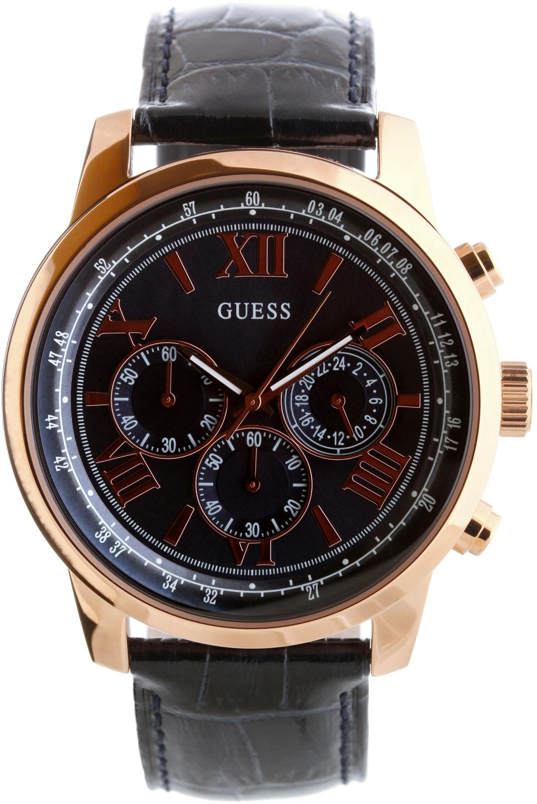 Guess Horizon W0380G5Наручные часы<br>Американские часы Guess Horizon W0380G5<br><br>Пол: Мужские<br>Страна-производитель: США<br>Механизм: Кварцевый<br>Материал корпуса: Сталь<br>Материал ремня/браслета: Кожа<br>Водозащита, диапазон: 20 - 100 м<br>Стекло: Минеральное<br>Толщина корпуса: 11.5 мм<br>Стиль: Классика