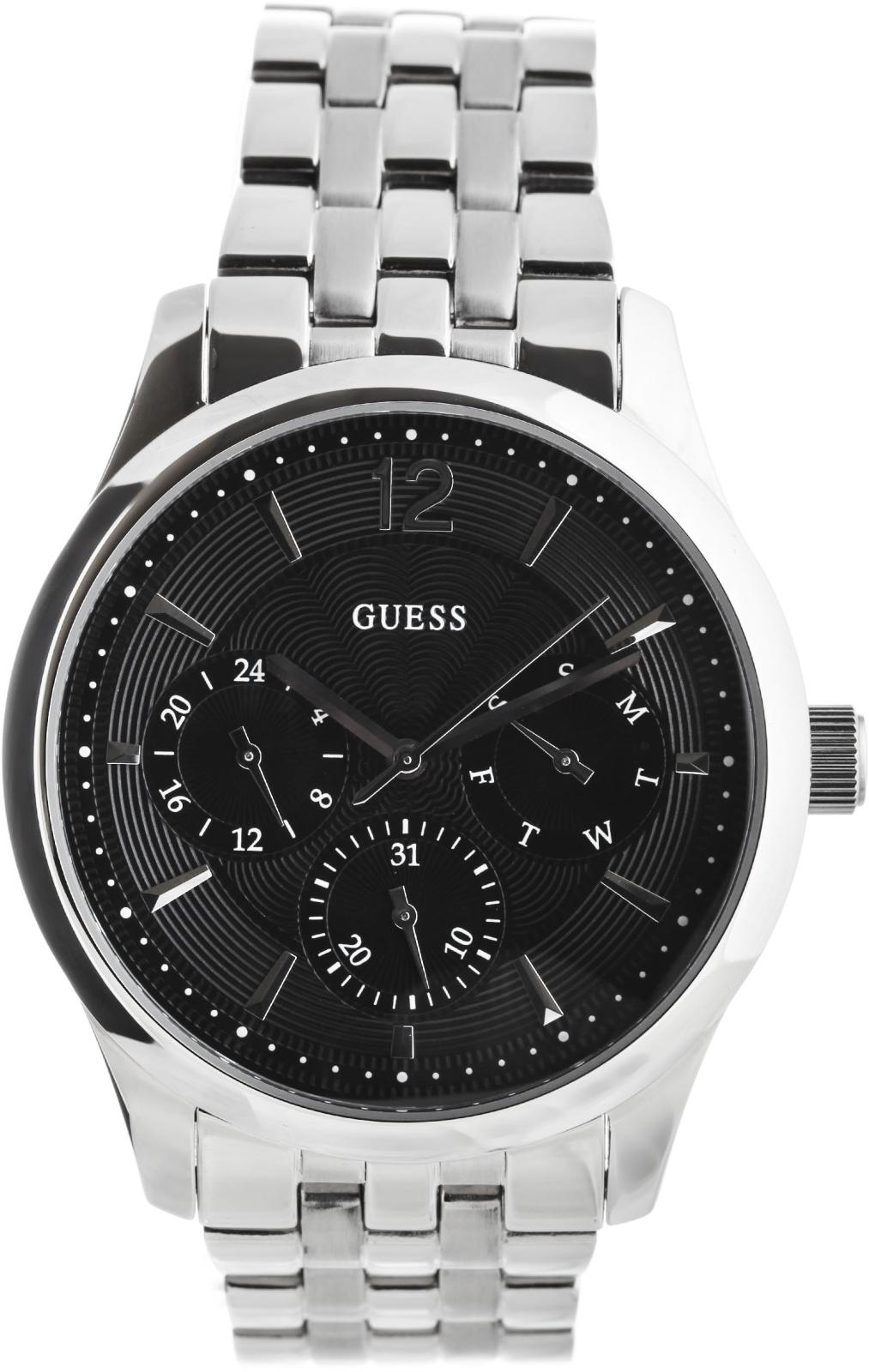 Guess Asset W0474G1Наручные часы<br>Американские часы Guess Asset W0474G1<br><br>Пол: Мужские<br>Страна-производитель: США<br>Механизм: Кварцевый<br>Материал корпуса: Сталь<br>Материал ремня/браслета: Сталь<br>Водозащита, диапазон: 20 - 100 м<br>Стекло: Минеральное<br>Толщина корпуса: 11.5 мм<br>Стиль: Классика