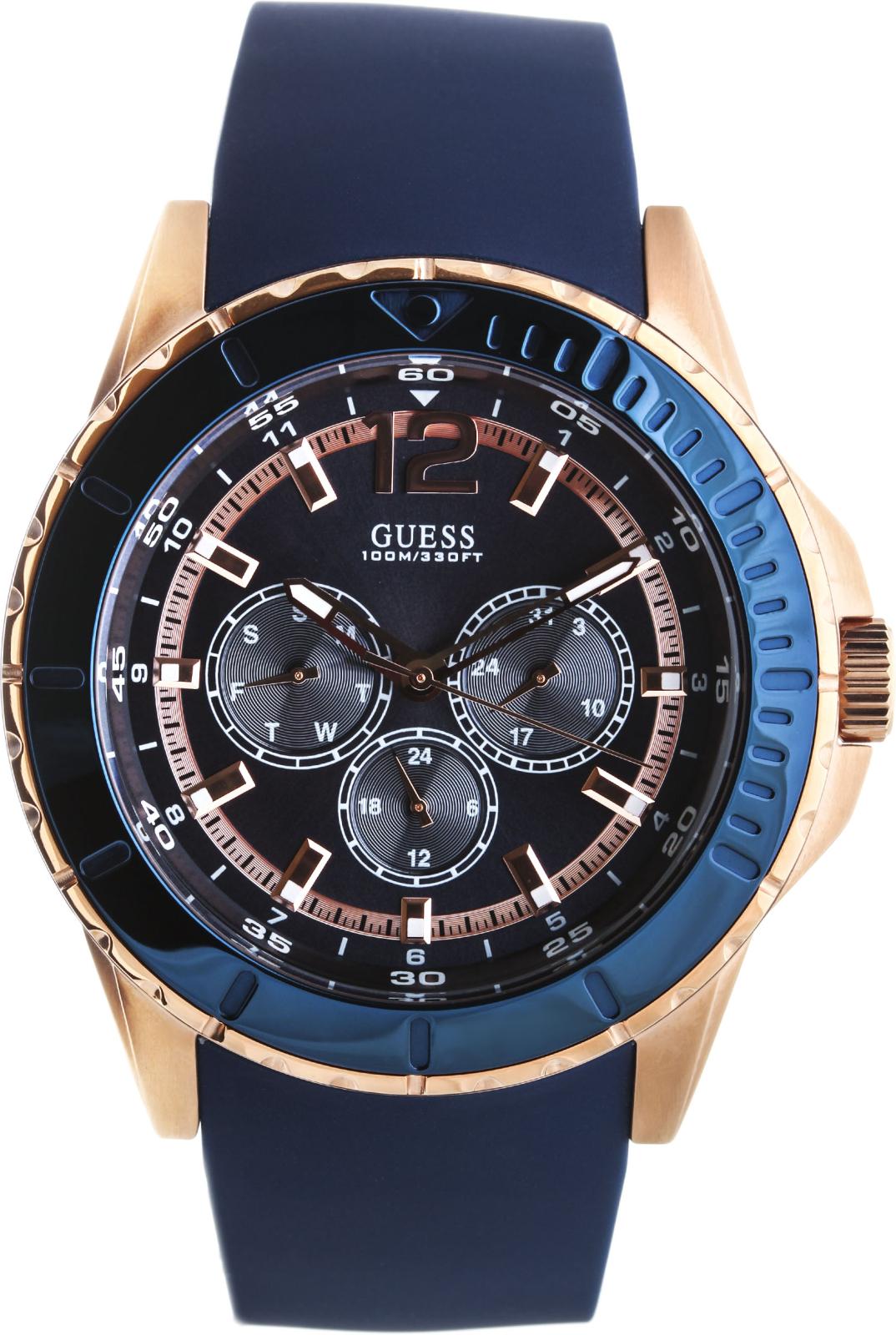 Guess Maverick W0485G1Наручные часы<br>Американские часы Guess Maverick W0485G1<br><br>Пол: Мужские<br>Страна-производитель: США<br>Механизм: Кварцевый<br>Материал корпуса: Сталь<br>Материал ремня/браслета: Каучук<br>Водозащита, диапазон: 100 - 150 м<br>Стекло: Минеральное<br>Толщина корпуса: 13.5 мм<br>Стиль: Классика