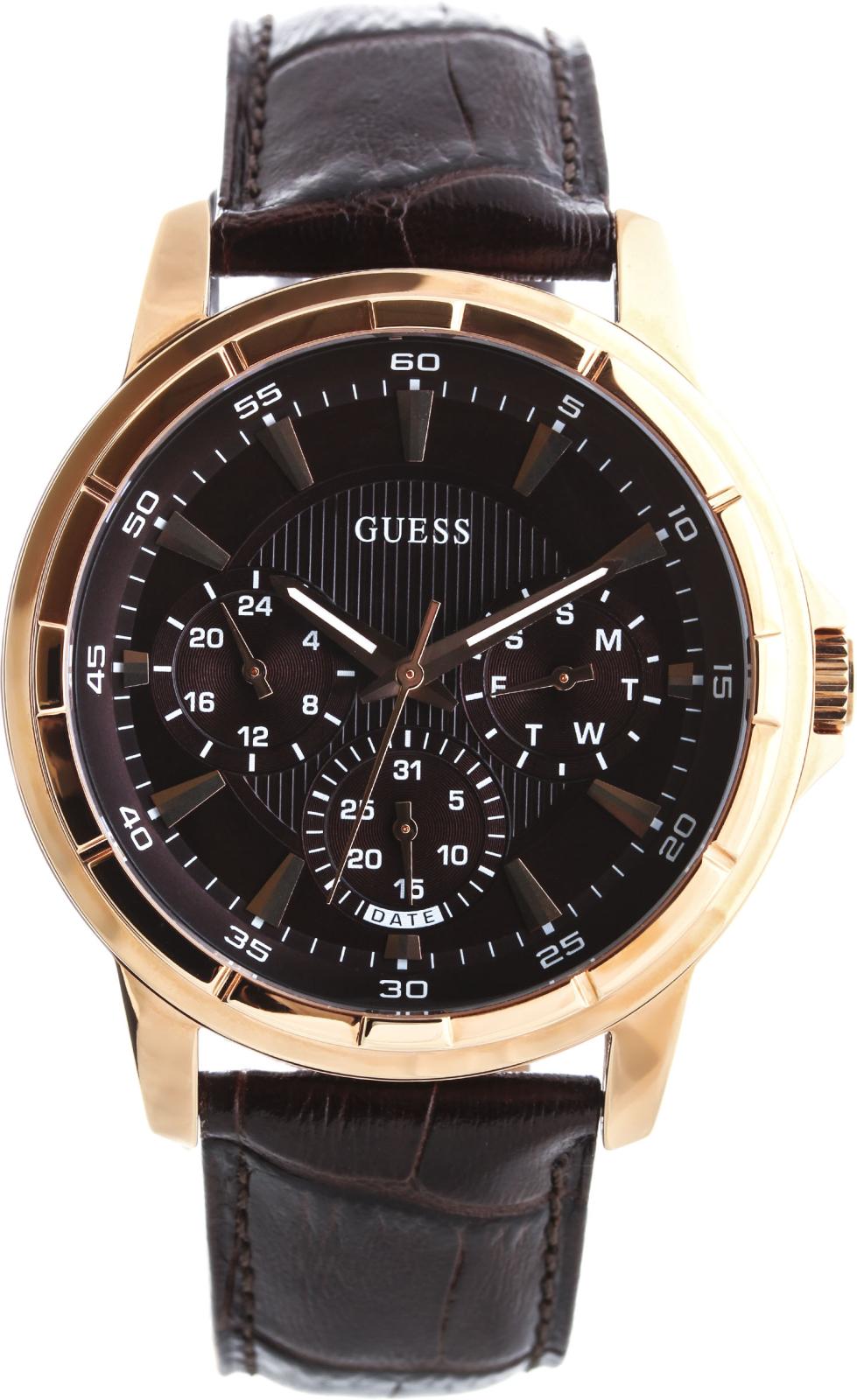 Guess Lexington W0498G1Наручные часы<br>Американские часы Guess Lexington W0498G1<br><br>Пол: Мужские<br>Страна-производитель: США<br>Механизм: Кварцевый<br>Материал корпуса: Сталь<br>Материал ремня/браслета: Кожа<br>Водозащита, диапазон: 20 - 100 м<br>Стекло: Минеральное<br>Толщина корпуса: 12 мм<br>Стиль: Классика