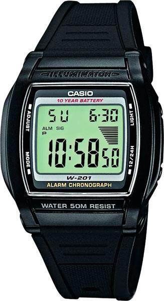 Купить Японские часы Casio W-201-1A
