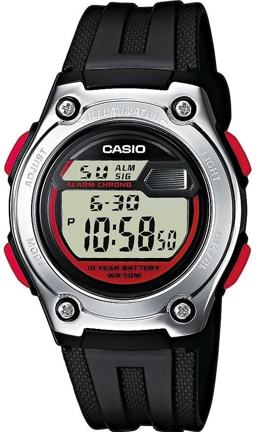 Купить Японские часы Casio W-211-1B