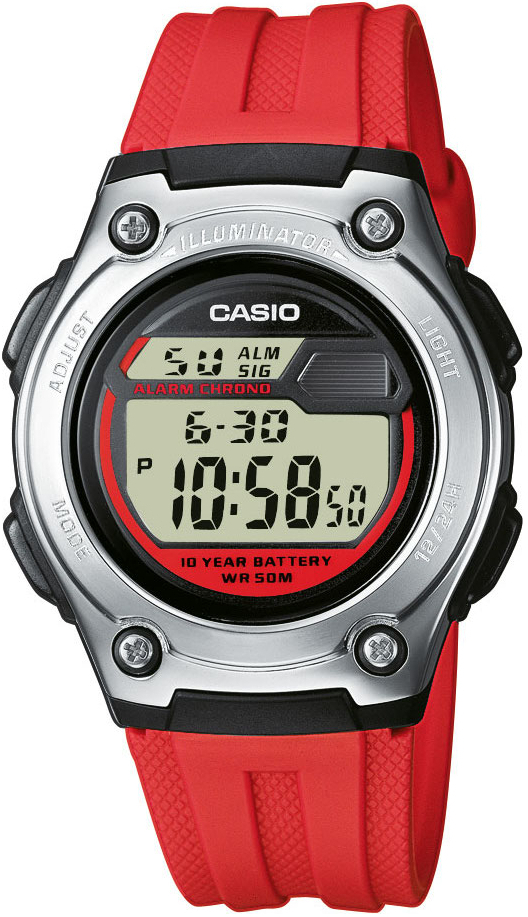 Купить Японские часы Casio W-211-4A