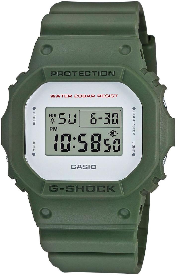 Casio G-shock G-Classic DW-5600M-3EНаручные часы<br>Японские часы Casio G-shock G-Classic DW-5600M-3E<br><br>Пол: Мужские<br>Страна-производитель: Япония<br>Механизм: Кварцевый<br>Материал корпуса: Пластик<br>Материал ремня/браслета: Пластик<br>Водозащита, диапазон: None<br>Стекло: Минеральное<br>Толщина корпуса: 13,4 мм<br>Стиль: None