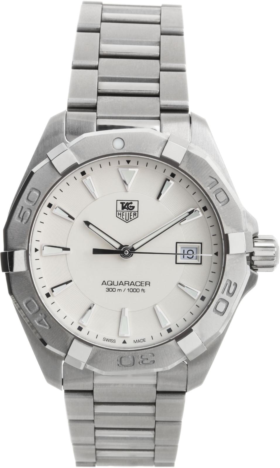 TAG Heuer Aquaracer WAY1111.BA0910Наручные часы<br>Швейцарские часы TAG Heuer Aquaracer WAY1111.BA0910<br><br>Для кого?: Мужские<br>Страна-производитель: Швейцария<br>Механизм: Кварцевый<br>Материал корпуса: Сталь<br>Материал ремня/браслета: Сталь<br>Водозащита, диапазон: 200 - 800 м<br>Стекло: Сапфировое<br>Толщина корпуса/: <br>Стиль: Классика