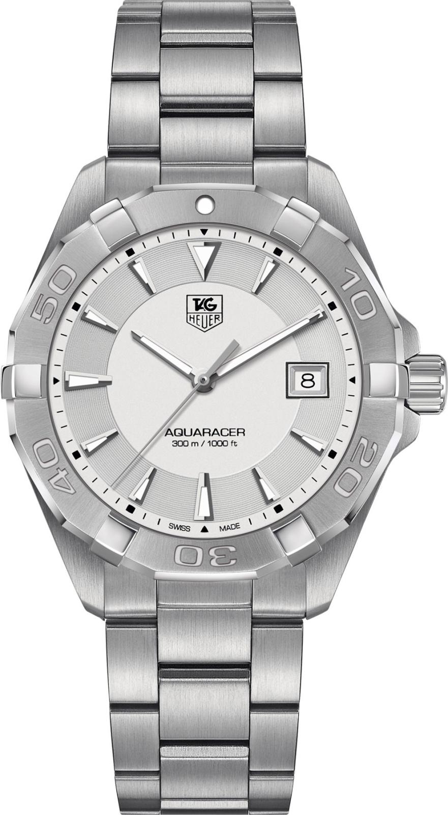 TAG Heuer WAY1111.BA0928Наручные часы<br>Швейцарские часыTAG Heuer Aquaracer 300M WAY1111.BA0928Часы из коллекции Aquaracer. Это спортивные мужские кварцевые часы, окошко даты в положении 3 часа, вращающийся в одном направлении безель. Механизм — кварцевый. Материал корпуса часов — матовая сталь. Покрытие часовых меток - люминисцентный состав Superluminova. В этих часах используется сапфировое стекло. Водозащита - 300 м. Диаметр корпуса модели 40,5 мм.<br><br>Для кого?: Мужские<br>Страна-производитель: Швейцария<br>Механизм: Кварцевый<br>Материал корпуса: Сталь<br>Материал ремня/браслета: Сталь<br>Водозащита, диапазон: 200 - 800 м<br>Стекло: Сапфировое<br>Толщина корпуса/: <br>Стиль: Спорт