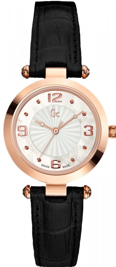 Gc Ladies X17012L1Наручные часы<br>Швейцарские часы Gc Ladies X17012L1Часы принадежат коллекции Ladies. Это стильные женские часы. Материал корпуса часов — сталь+золото. Циферблат часов защищает сапфировое стекло. Часы этой модели обладают водозащитой 100 м. Размер данной модели 35мм.<br><br>Пол: Женские<br>Страна-производитель: Швейцария<br>Механизм: Кварцевый<br>Материал корпуса: Сталь<br>Материал ремня/браслета: Кожа<br>Водозащита, диапазон: 100 - 150 м<br>Стекло: Минеральное<br>Толщина корпуса: None<br>Стиль: None