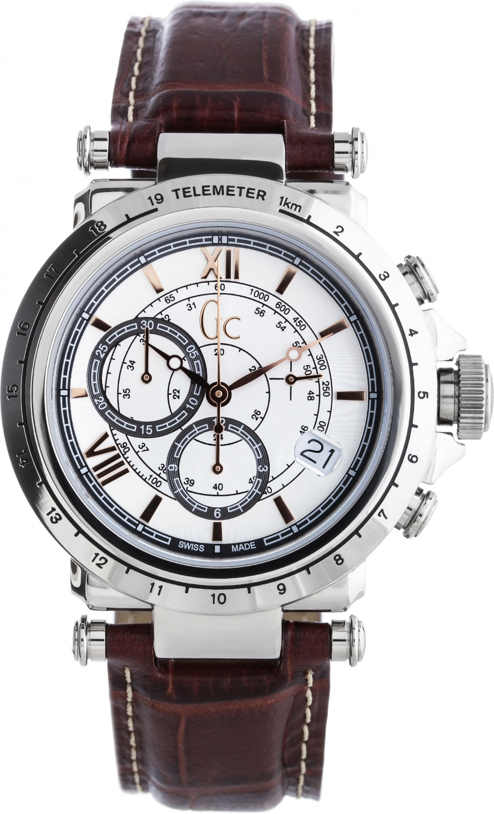GC Sport Chic X44005G1Наручные часы<br>Швейцарские часы GC Sport Chic X44005G1<br><br>Пол: Мужские<br>Страна-производитель: Швейцария<br>Механизм: Кварцевый<br>Материал корпуса: Сталь<br>Материал ремня/браслета: Кожа<br>Водозащита, диапазон: 100 - 150 м<br>Стекло: Минеральное<br>Толщина корпуса: 10 мм<br>Стиль: Спорт