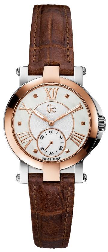Gc Classic X50004L1SНаручные часы<br>Швейцарские часы Gc Classic X50004L1S<br><br>Пол: Женские<br>Страна-производитель: Швейцария<br>Механизм: Кварцевый<br>Материал корпуса: Сталь<br>Материал ремня/браслета: Кожа<br>Водозащита, диапазон: 100 - 150 м<br>Стекло: Сапфировое<br>Толщина корпуса: 8 мм<br>Стиль: Классика