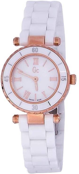 Gc Mini Chic  X70011L1SНаручные часы<br>Швейцарские часы Gc Mini Chic X70011L1SПредставленная модель входит в коллекцию Mini Chic . Это модные женские часы. Материал корпуса часов &amp;mdash; сталь+керамика. В этой модели стоит сапфировое стекло. Водозащита - 100 м.<br><br>Пол: Женские<br>Страна-производитель: Швейцария<br>Механизм: Кварцевый<br>Материал корпуса: Сталь+керамика<br>Материал ремня/браслета: Керамика<br>Водозащита, диапазон: 100 - 150 м<br>Стекло: Сапфировое<br>Толщина корпуса: None<br>Стиль: None