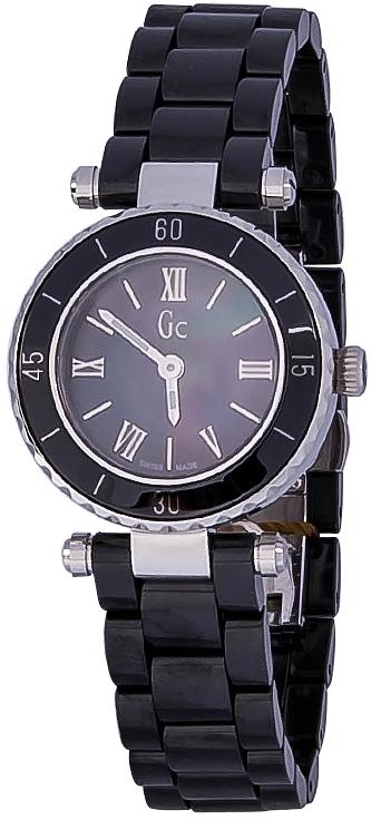 Gc Mini Chic  X70012L2SНаручные часы<br>Швейцарские часы Gc Mini Chic X70012L2SМодель входит в коллекцию Mini Chic . Это женские часы. Материал корпуса часов &amp;mdash; сталь+керамика. Стекло - сапфировое. Часы выдерживают давление на глубине 100 м.<br><br>Пол: Женские<br>Страна-производитель: Швейцария<br>Механизм: Кварцевый<br>Материал корпуса: Сталь+керамика<br>Материал ремня/браслета: Керамика<br>Водозащита, диапазон: 100 - 150 м<br>Стекло: Сапфировое<br>Толщина корпуса: None<br>Стиль: None