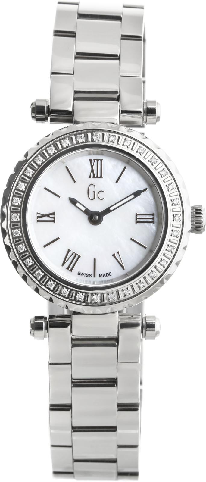 Gc Precious  X70105L1SНаручные часы<br>Швейцарские часы Gc Precious X70105L1SДанная модель входит в коллекцию Precious . Это стильные женские часы. Материал корпуса часов &amp;mdash; сталь. Стекло - сапфировое. Водозащита этих часов 100 м.<br><br>Пол: Женские<br>Страна-производитель: Швейцария<br>Механизм: Кварцевый<br>Материал корпуса: Сталь<br>Материал ремня/браслета: Сталь<br>Водозащита, диапазон: 100 - 150 м<br>Стекло: Сапфировое<br>Толщина корпуса: None<br>Стиль: None