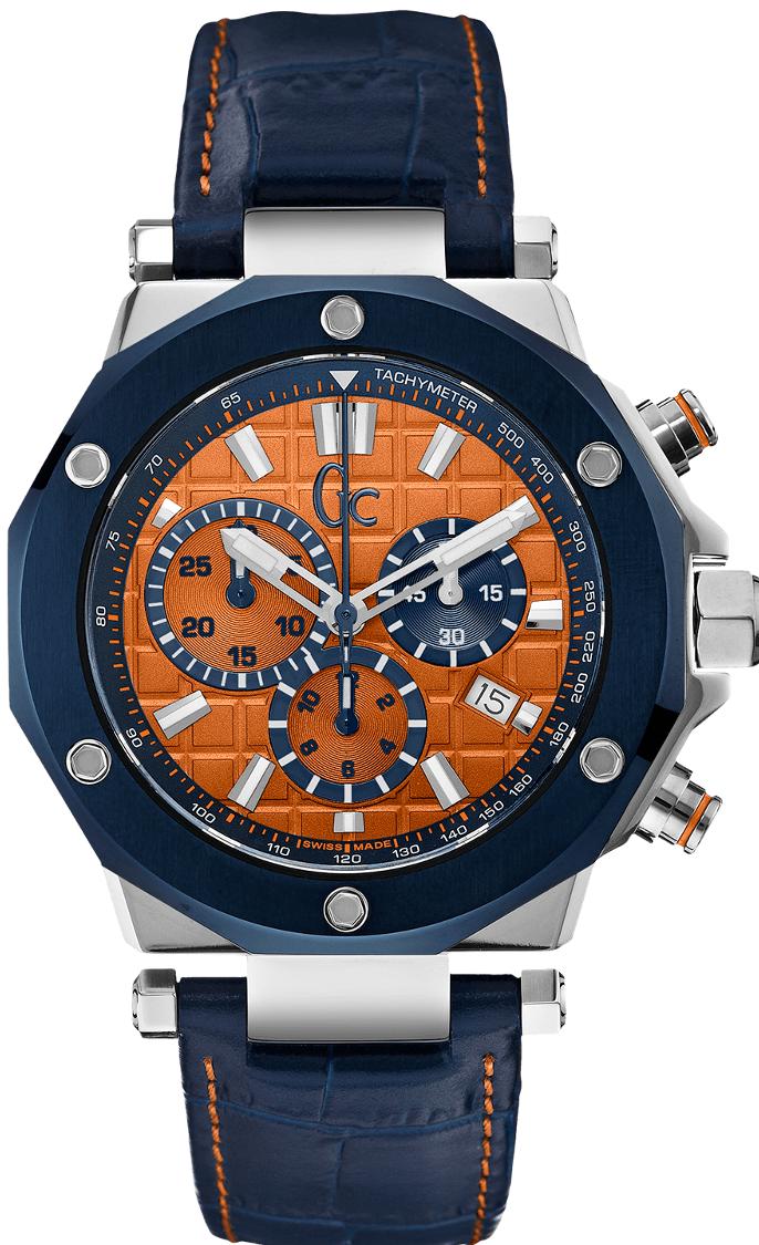 Gc Sport Chic X72031G7SНаручные часы<br>Швейцарские часы Gc Sport Chic X72031G7S<br><br>Пол: Мужские<br>Страна-производитель: Швейцария<br>Механизм: Кварцевый<br>Материал корпуса: Сталь<br>Материал ремня/браслета: Кожа<br>Водозащита, диапазон: None<br>Стекло: Сапфировое<br>Толщина корпуса: 12 мм<br>Стиль: None