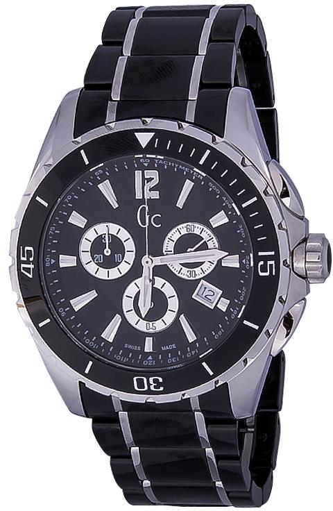 Gc Sport Chic X76002G2SНаручные часы<br>Швейцарские часы Gc Sport Chic X76002G2SМодель входит в коллекцию Sport Chic. Это стильные мужские часы. Материал корпуса часов &amp;mdash; сталь. В этой модели стоит сапфировое стекло. Водозащита этой модели 100 м. Цвет циферблата - черный. Корпус часов в диаметре 45мм.<br><br>Пол: Мужские<br>Страна-производитель: Швейцария<br>Механизм: Кварцевый<br>Материал корпуса: Сталь<br>Материал ремня/браслета: Керамика<br>Водозащита, диапазон: 100 - 150 м<br>Стекло: Сапфировое<br>Толщина корпуса: None<br>Стиль: Спорт