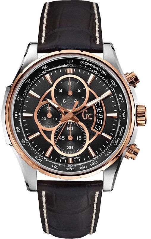 Gc Classic GC X81007G2SНаручные часы<br>Швейцарские часы Gc Classic GC X81007G2SЧасы входят в модельный ряд коллекции Classic GC. Это модные мужские часы. Материал корпуса часов &amp;mdash; сталь+золото. В этой модели стоит сапфировое стекло. Водозащита этих часов 100 м.<br><br>Пол: Мужские<br>Страна-производитель: Швейцария<br>Механизм: Кварцевый<br>Материал корпуса: Сталь+Золото<br>Материал ремня/браслета: Кожа<br>Водозащита, диапазон: 100 - 150 м<br>Стекло: Сапфировое<br>Толщина корпуса: None<br>Стиль: None