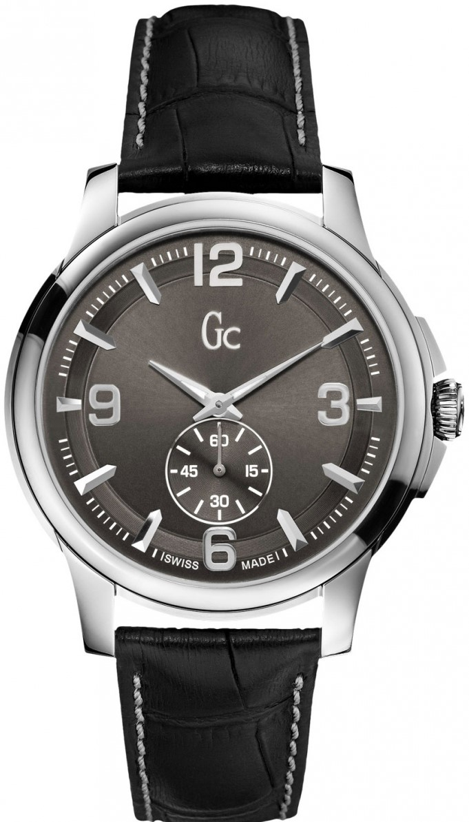 Gc Classic GC X82004G5SНаручные часы<br>Швейцарские часы Gc Classic GC X82004G5SПредставленная модель входит в коллекцию Classic GC. Это великолепные мужские часы. Материал корпуса часов &amp;mdash; сталь. Циферблат часов защищает сапфировое стекло. Водозащита этой модели 100 м. Основной цвет циферблата серый. Циферблат содержит часы, минуты, секунды. Размер данной модели 42мм.<br><br>Пол: Мужские<br>Страна-производитель: Швейцария<br>Механизм: Кварцевый<br>Материал корпуса: Сталь<br>Материал ремня/браслета: Кожа<br>Водозащита, диапазон: 100 - 150 м<br>Стекло: Сапфировое<br>Толщина корпуса: None<br>Стиль: Классика