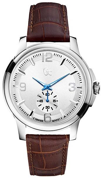 Gc Classic   X82005G1SНаручные часы<br>Швейцарские часы Gc Classic X82005G1SМодель входит в коллекцию Classic . Это великолепные мужские часы. Материал корпуса часов &amp;mdash; сталь. Стекло - сапфировое. Водозащита - 100 м. Основной цвет циферблата серебристый. Циферблат модели содержит часы, минуты, секунды. Диаметр корпуса данной модели 42мм.<br><br>Пол: Мужские<br>Страна-производитель: Швейцария<br>Механизм: Кварцевый<br>Материал корпуса: Сталь<br>Материал ремня/браслета: Кожа<br>Водозащита, диапазон: 100 - 150 м<br>Стекло: Сапфировое<br>Толщина корпуса: None<br>Стиль: None