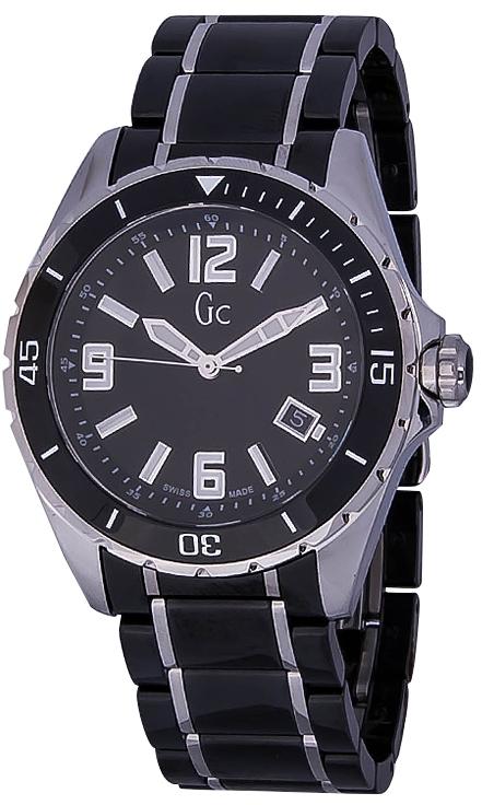 GC Sport Class XL X85008G2SНаручные часы<br>Швейцарские часы GC Sport Class XL X85008G2S<br><br>Пол: Мужские<br>Страна-производитель: Швейцария<br>Механизм: Кварцевый<br>Материал корпуса: Сталь+керамика<br>Материал ремня/браслета: Сталь+керамика<br>Водозащита, диапазон: 100 - 150 м<br>Стекло: Сапфировое<br>Толщина корпуса: 11 мм<br>Стиль: Спорт