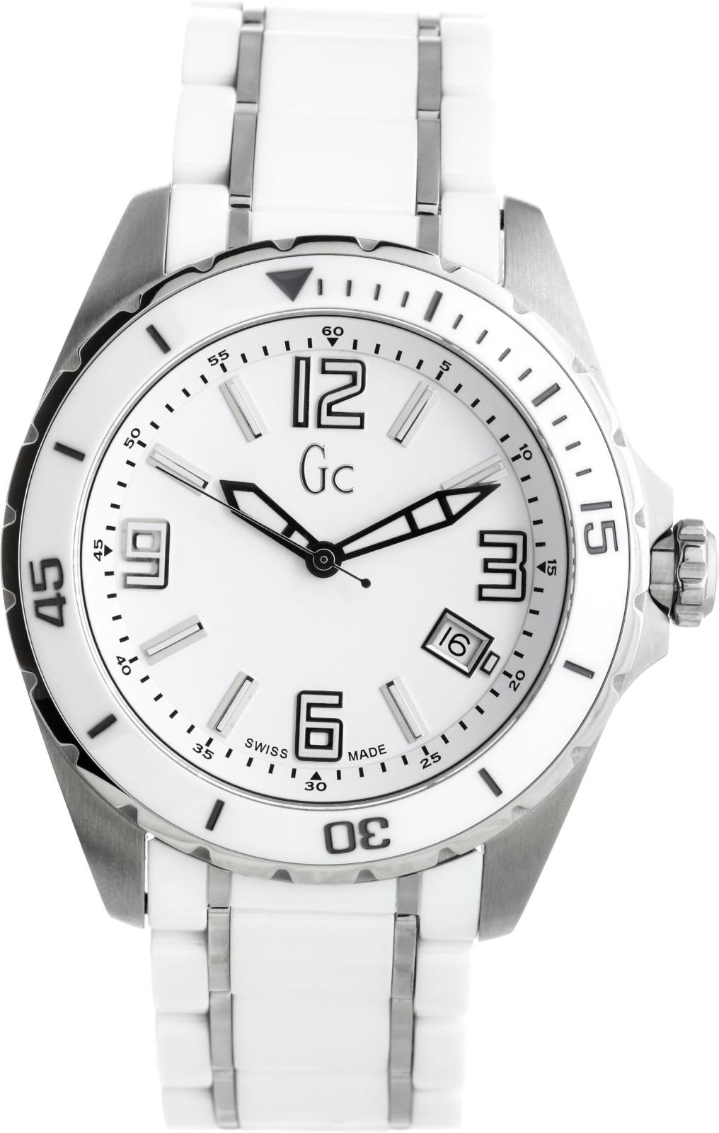 GC Sport Chic X85009G1SНаручные часы<br>Швейцарские часы GC Sport Chic X85009G1S<br><br>Пол: Мужские<br>Страна-производитель: Швейцария<br>Механизм: Кварцевый<br>Материал корпуса: Сталь+керамика<br>Материал ремня/браслета: Сталь+керамика<br>Водозащита, диапазон: 100 - 150 м<br>Стекло: Сапфировое<br>Толщина корпуса: None<br>Стиль: Классика