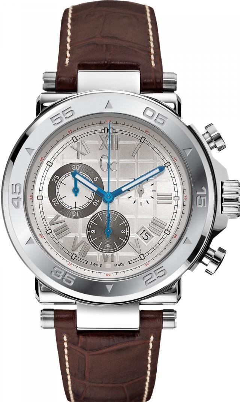 Gc Sport Chic X90001G1SНаручные часы<br>Швейцарские часы Gc Sport Chic X90001G1SДанная модель — яркий представитель коллекции Sport Chic. Это стильные мужские часы. Материал корпуса часов — сталь. Циферблат часов защищает сапфировое стекло. Часы этой модели обладают водозащитой 100 м. Цвет циферблата - серебристый. Диаметр корпуса часов составляет 44мм.<br><br>Пол: Мужские<br>Страна-производитель: Швейцария<br>Механизм: Кварцевый<br>Материал корпуса: Сталь<br>Материал ремня/браслета: Кожа<br>Водозащита, диапазон: 100 - 150 м<br>Стекло: Сапфировое<br>Толщина корпуса: None<br>Стиль: None
