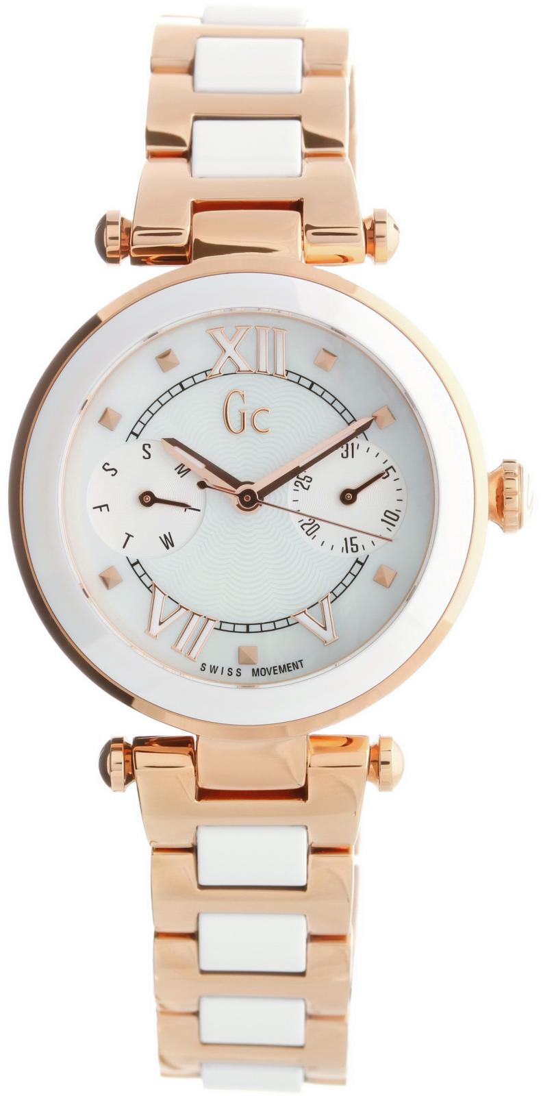 Gc Ladychic Y06004L1Наручные часы<br>Швейцарские часы Gc Ladychic Y06004L1<br><br>Пол: Женские<br>Страна-производитель: Швейцария<br>Механизм: Кварцевый<br>Материал корпуса: Сталь<br>Материал ремня/браслета: Сталь<br>Водозащита, диапазон: None<br>Стекло: Минеральное<br>Толщина корпуса: None<br>Стиль: None