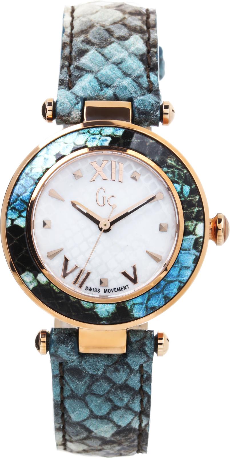 GC Sport Chic Y10002L1Наручные часы<br>Швейцарские часы GC Sport Chic Y10002L1<br><br>Для кого?: Женские<br>Страна-производитель: Швейцария<br>Механизм: Кварцевый<br>Материал корпуса: Сталь<br>Материал ремня/браслета: Кожа<br>Водозащита, диапазон: 100 - 150 м<br>Стекло: Минеральное<br>Толщина корпуса: 11 мм<br>Стиль: Спорт