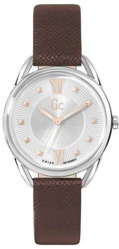 Gc Classic Y13001L1Наручные часы<br>Швейцарские часы Gc Classic Y13001L1<br><br>Пол: Женские<br>Страна-производитель: Швейцария<br>Механизм: Кварцевый<br>Материал корпуса: Сталь<br>Материал ремня/браслета: Кожа<br>Водозащита, диапазон: None<br>Стекло: Минеральное<br>Толщина корпуса: 7,8 мм<br>Стиль: None